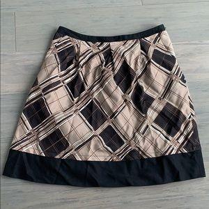 BCBG MaxAzria Skirt Black Brown Sz 2